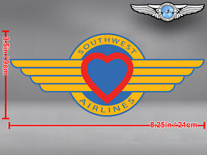 SOUTHWEST AIRLINES SOUTH WEST SWA CUT TO SHAPE WINGS LOGO STICKER / DECAL