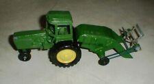 Vintage Ertl John Deere Model-4430 Farm Tractor & Manure Spreader Trailer Toys