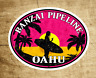 "Surfing Banzai Pipeline Oahu DECAL STICKER North Shore Surf 3.6"" x 2.75"""