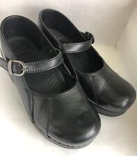 Dansko Women's Size 36 Nurse Professional Shoes Patent Black Leather Mary Jane
