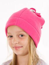CMP Beanie Fleece Cap Pompom Hat Pink Elastic Breathable