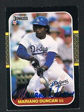 Mariano Duncan #253 signed autograph auto 1987 Donruss Baseball Trading Card