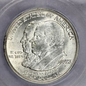 1923-S 1923 Monroe Doctrine Centennial Half Dollar ICG-AU58