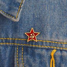 Red star hammer sickle communist symbol Soviet pin badge brooch Soviet Union