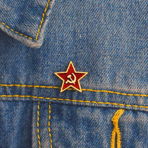 Red Stars Hammer Sickle Communism Symbol USSR Pins Badges Brooches Soviet Union