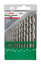 Bosch Metric 13 Piece HSS-G High Speed Steel-Ground Drill Bit Set 1.5–6.5mm