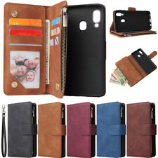 Zipper Wallet Leather Flip Case Cover For Samsung A11 A21s A51 A71 S20 S10 S9 S8