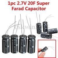 6pc Farad Kapazitiv 2.7V 20F Super Kondensator Kapazitiv 25mmX12mm