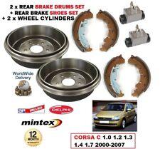arrière freins à tambour Chaussures 2 x cylindre pour CORSA C 1.0 1.2 1.3 1.4