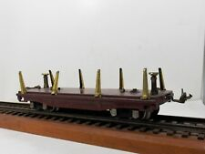 """LIONEL """"O"""" GAUGE PRE-WAR  #811 FLAT CAR - AS FOUND -  COMPLETE - VERY GOOD COND."""