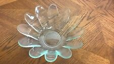 """Flower Shaped Clear Glass Bowl Candy Dish 9"""""""