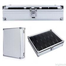 12 Slot Aluminium Watch Box Display Case Organizer Watch Jewelry Storage