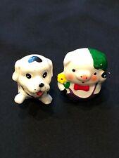 Lot of 2 Cute Porcelain/Ceramic Figurines - Dalmatian Pup and Pig