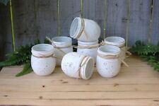 Boho Mason jar decor distressed set of 6 wedding decor tablescape centerpiece