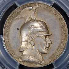 Medal 1914 PCGS SP58German EmpirePrussia Silver Coronation Speech Wilhelm II R
