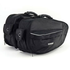 Bike It Urbano Motorcycle Luggage Carrying Expanding Panniers Set 24 - 38 Litre