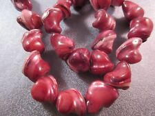 Maroon Mother Of Pearl Shell Nuggets Beads 28pcs