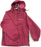 FROGG TOGGS Womens Rain Coat Jacket pink With Hood NWOT ZIP Front Size M