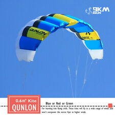Dual Line Parafoil Parachute Kites 0.6sqm Traction Outdoor Toys Fun for Flying