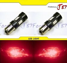 LED Light 1156 6W Red Two Bulbs Rear Turn Signal Replace Stock Upgrade JDM Fit