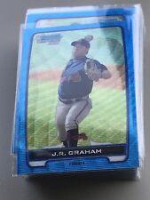 J.R.GRAHAM 2012 BOWMAN CHROME BLUE WAVE REFRACTOR #BCP24 BRAVES!