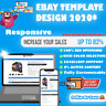 Ebay Html Listing Template Auction Professional Mobile Responsive Design 2020