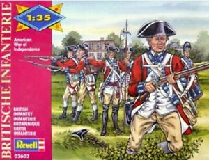 Revell 02603 American War Of Independence British Infantry 1/35 Scale Model Kit