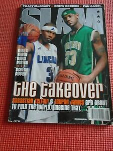 August 2002 LeBron James First Rookie RC SLAM Magazine #62 NO LABEL Poor Cond
