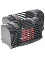 NEW PowerBlock Sport 50 Dumbbells Pair 10 - 50 LB Adjustable IN HAND SHIPS NOW
