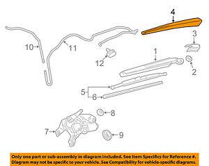 GM OEM Wiper Washer-Lift Gate-Wiper Arm Cover 22759638