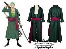 New One Piece Zoro Two Years Later Green Kimono Uniform Made Cosplay Costume
