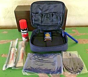 Vintage Continental Airlines Travel Kit Zipper Bag: Shaving, Socks, Sleep Mask++