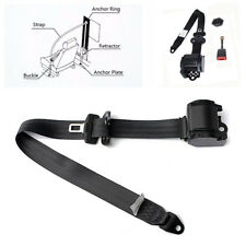 3 Point Short Iron Rod Steel Wire Buckle Car Safety Seat Belt Lap& Diagonal Belt