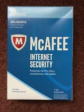 McAfee Internet Security 2017 -  10 Device 1 Year KEY CARD CODE ONLY