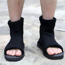 Girl Boy Naruto Leaf Village Ninja Black Cosplay Shoes Sandals Boots Costume 39