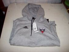 Adidas Men's Medium Gray D.C. United Soccer Hoodie Hooded Sweatshirt NEW W/ TAGS