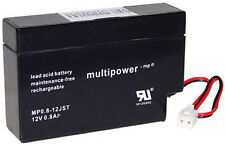 12V / 0,8 Ah Multipower MP0.8-12JST Batterie au plomb MP08-12
