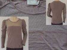1060 Clothes Shirt Tüll Girls Rundhals Langarm Tülleinsatz braun M 38 1A Zustand