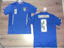 FW14 PUMA M BLU HOME ITALIA 3 CHIELLINI MAGLIA MAGLIETTA MONDIALI SHIRT JERSEY