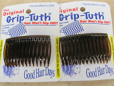 """2 Sets of 2 Shell Grip Tuth Hair Combs (4 combs) 2 3/4"""" Good Hair Days USA #414"""