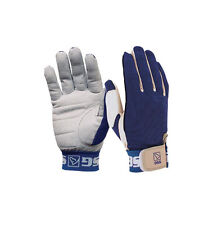 SSG Team Roper Suede Palm Glove Style 1000 Large RT Hand Blue Rodeo Roping
