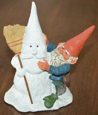 "Enesco 1994 Gnome ""Jonathan� David Snowman Signed Rien Poortvliet & Klaus Wickl"