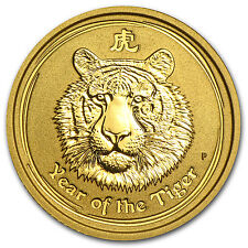 2010 1/10 oz Gold Australian Perth Mint Lunar Year of the Tiger Coin - SKU#54865