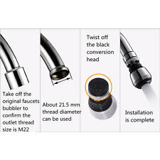 360 Degree Water Bubbler Swivel Head Saving Tap Faucet Aerator Connector