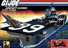 Vintage 1985 GI Joe USS FLAGG Aircraft Carrier Original FREE SHIPPING!