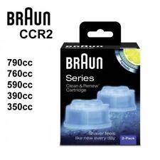BRAUN SHAVER CLEAN & RENEW REFILL CARTRIDGES CCR2 790cc 760cc 590cc 390cc 350cc