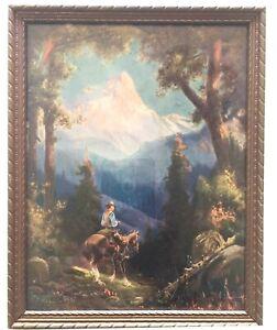Wilderness - Ranger on Horseback  by  R. Atkinson Fox