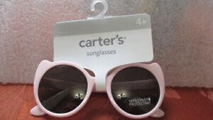 GIRLS CARTER'S SUNGLASSES PINK CAT GLASSES 100% UVA UVB PROTECTANT AGES 4+