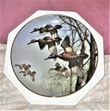 "Danbury Mint Plate ""Misty Morning"" by David Maass Ducks Taking Flight Ltd"