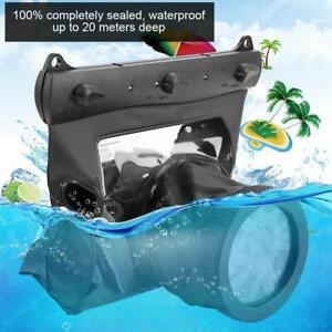 Tteoobl Underwater Waterproof Diving Case Bag 20M for Canon Nikon DSLR Cameras